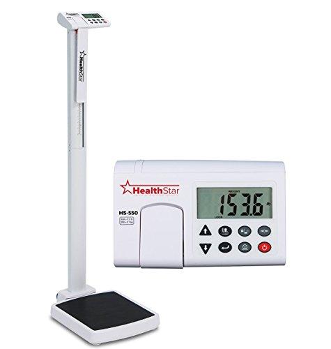 Healthstar Professional Eye Level Digital Physician Scale 550 Pound Capacity, Calculates BMI