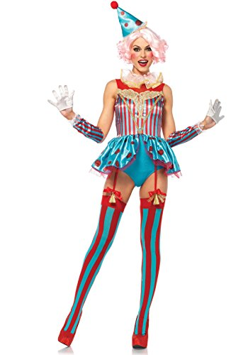 LEG AVENUE Delightful Circo Clown Costume da donna breve L