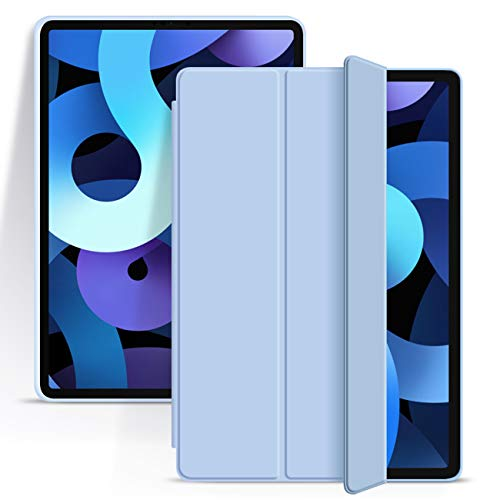 ZOYU New iPad Air 4th Generation Case 2020 iPad 10.9 Case Slim Lightweight Smart Soft TPU Back Shell Stand Cover with Auto Wake/Sleep Protective Cover for iPad Air 4 10.9 inch (White ice)
