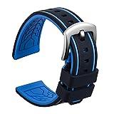 Ullchro Bracelet Montre Remplacer Silicone Bracelet Montre Bicolore - 20, 22, 24,...