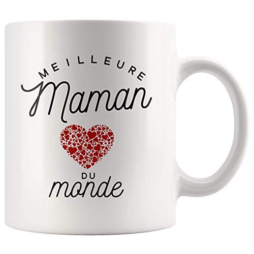 Mug Meilleure Maman du Monde | Cadeau Maman Cadeau Fete Des Meres Mug Cadeau Pour Maman Tasse Maman Ceramike Cadeau Anniversaire Maman Cadeaux Meres Mere Mug Maman Cadeau Mamon Cadeau Pour Sa Mere