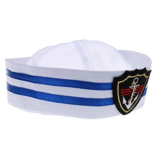 Chapeau Marin Casquette Marine Rayé Enfants Capitaine de Bateau Déguisement Cosplay - 3