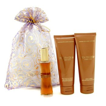 Youth Dew Amber Nude by Estee Lauder for Women 4pc GiftSet