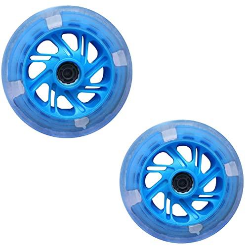 Wxnnx Rueda con luz de Flash LED de 2 Piezas de 120 mm con 2 rodamientos ABEC-7 - Reemplazo para Scooters Kick/Razor,B