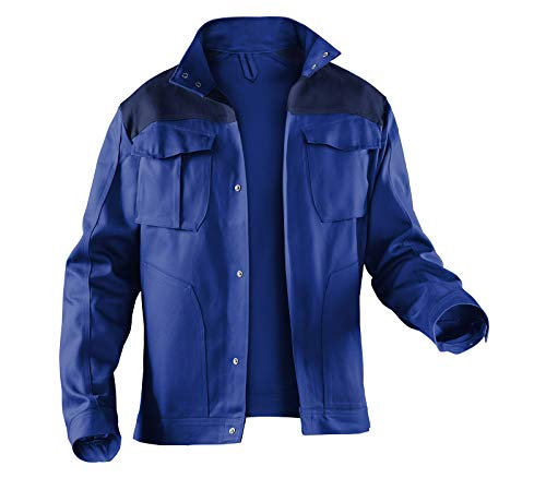 KÜBLER Workwear KÜBLER IDENTIQ Cotton Arbeitsjacke blau, Größe 54, Herren-Arbeitsjacke aus Baumwolle, Bequeme Arbeitsjacke