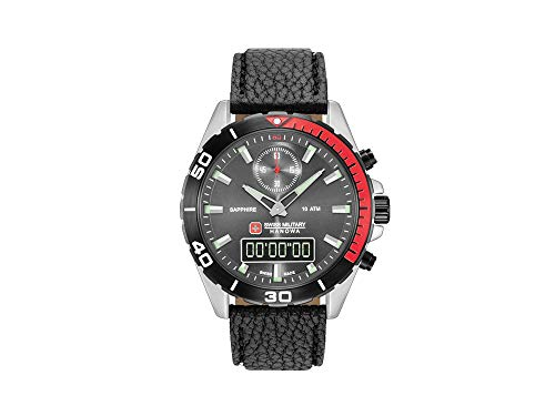 Swiss Military Hanowa Navy Multimission Quartz Uhr, Grau, 44 mm, 6-4298.04.009