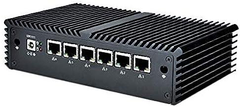 6 LAN Mini PC Q535G6 CPU Core i3-7100U (Dual core 2.4 GHz), DDR4 8GB RAM 64GB mSATA SSD, Qotom AES-NI Mini PC Router Firewall