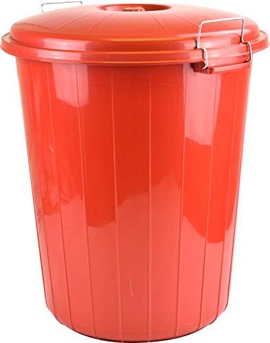 Sterling Ventures Abfalleimer mit verschließbarem Deckel, 35 l, Rot