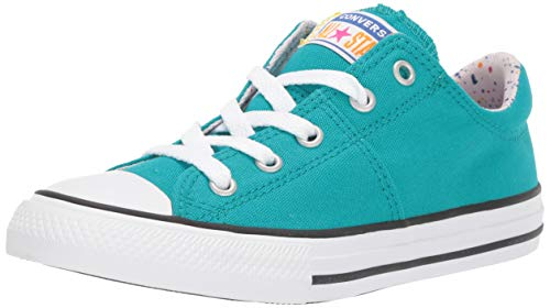 Converse Girls' Chuck Taylor All Star Madison Sneaker, Turbo Green/White/Barely Rose, 3 M US Little Kid