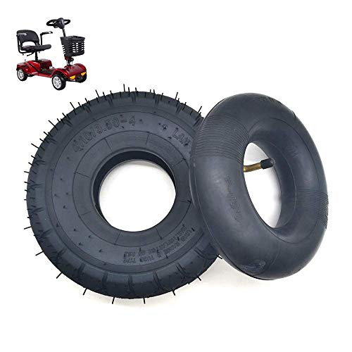Neumáticos para patinetes eléctricos, neumáticos interiores y exteriores inflables 4.10 / 3.50-4,...