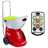 LOBSTER Sports – Elite Two Tennis Ball Machine with Elite 10-Function Remote Control – Triple Oscillation – Lightweight – 4- to 8-Hour Battery Life – 50 Degree Lobs – Optional Accessories