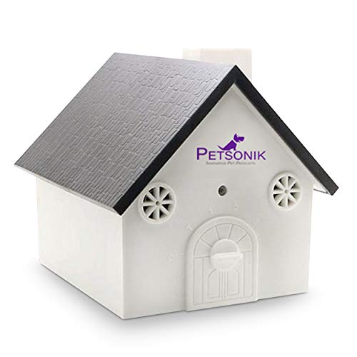 Anti Barking Device   Ultrasonic Bark Control in Birdhouse Shape   Includes Free E-Book on Tips   Instantly Stop Neighbors Dog Barking   Outdoor Bark Box, Bark House Barking Control for Dogs