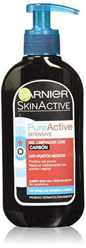 Garnier SkinActive - Gel Nettoyant Charbon Anti-Points Noirs Incrustés PureActive - 200 ml