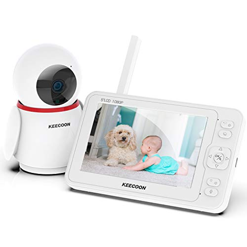 KEECOONベビーモニター カメラ 200万画素 5.0インチ 老人介護 子供見守り ペットカメラ