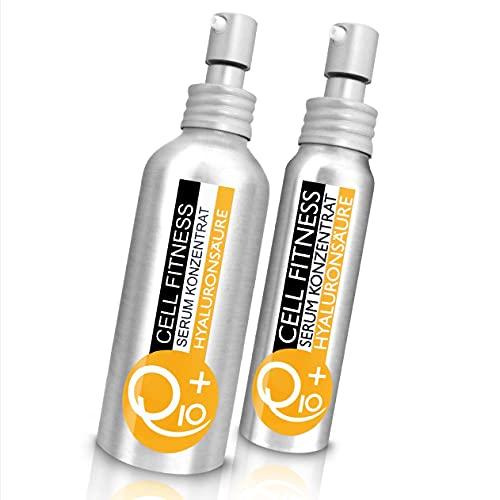 UNIQ10UE Serum Konzentrat mit Hyaluronsäure, Hyaluron + Q10, Syn Tacks Peptidkomplex, vegan, straffend, extrem durchfeuchtend für Gesicht, Hals und Dekolleté, Made in Germany, 35 ml