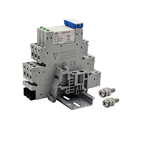 Miniature Power Relay DC 12V/ 24V HF41F/12-ZS 5 Pin 1NO 1NC 6A SPDT...