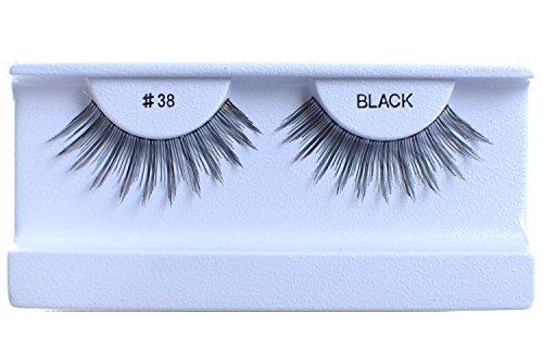 30 Pairs False Eyelashes Fake Eyelashes 100% Human Hair Black #38