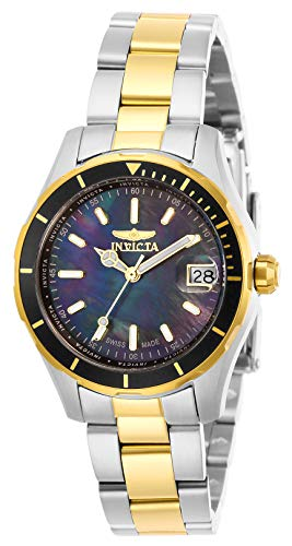 Invicta Women's Pro Diver Quartz Watch with Stainless Steel Strap, Two Tone, 16 (Model: 28647)