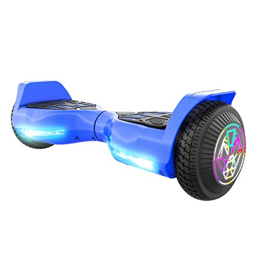 Swagtron Swagboard Twist 3 Self Balancing Hoverboard for Kids Multicolor LED Wheels and LiFePo Battery Technology (Blue)