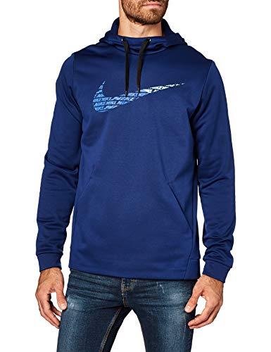 Nike Men's Therma Logo Hoodie (M, Blue Void)