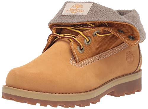 Timberland Boys' Courma Roll Top Boot Ankle, Wheat Nubuck, 050M Medium US Big Kid
