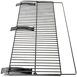 The Smoke Daddy Foldable Front Grill Shelf: 34inch x 12inch Powder Coat