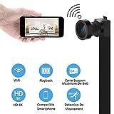 WiFi Caméra Espion Caméscope HD 4K Cachée Mini Caméra sans Fil Caméra de Surveillance...