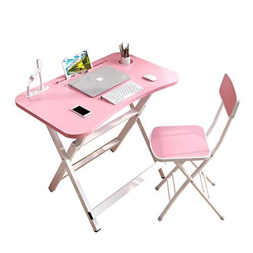 Juego de mesa y silla para niños, mesa y silla de estudio para niños plegable multifuncional, con cajón de almacenamiento + interfaz USB, escritorio simple, antideslizante, estable y duradero /
