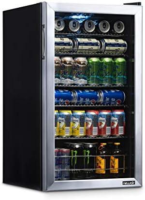 NewAir Refrigerador para 126 latas, acero inoxidable, diseño de edición limitada
