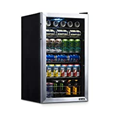 """Your purchase includes One NewAir 126 Can Freestanding Beverage Fridge with R600A refrigerant type (Limited Edition Design) Fridge dimensions: 18.40"""" Dx 18.90"""" W x 32.40"""" H (33.00"""" w/hinge) 