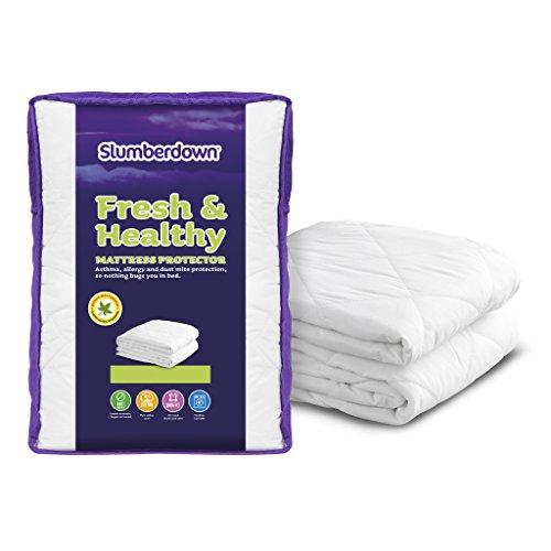 Slumberdown Fresh & Healthy Mattress Protector single, White