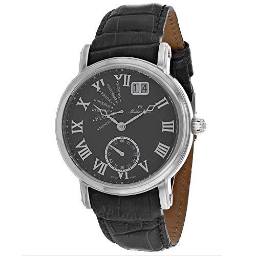 MATTHEY-TISSOT Reloj casual para hombre de acero inoxidable y cuarzo, gris, 22 años (modelo: H7020AS)