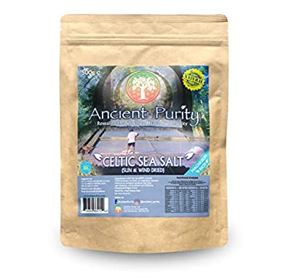 """Celtic Sea Salt """"Natural Real Grey Salt"""" 500g (No Magnesium Removed) heart health by ancient purity"""