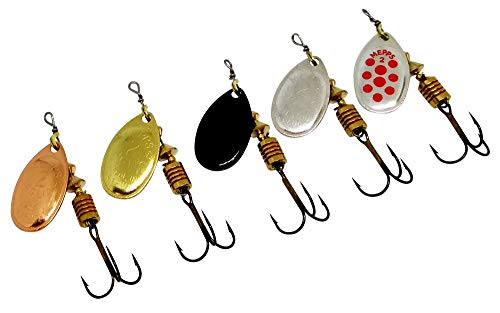 Spoon Blinker Perch Top-Köder Mepps Spinner Black Fury Größe 1-4 Forelle