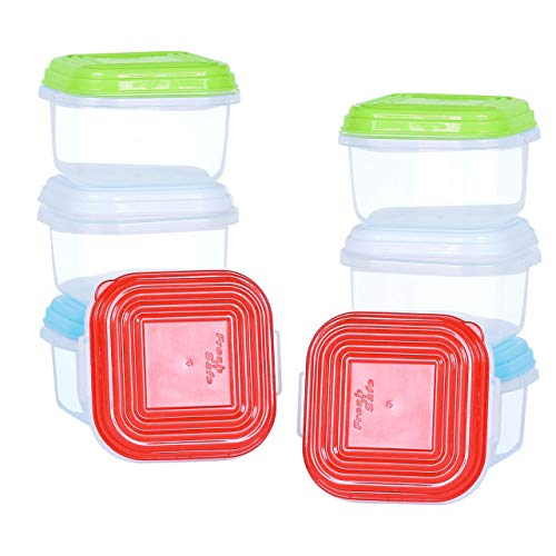 Neez Plastic Baby Food Container for Breast Milk & Other Baby Foods Freezer Freezing Cubes BPA Free 8 pcs