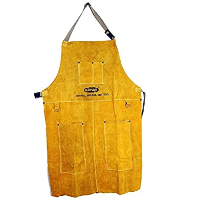 Man Law BBQ Products Man-LA1 Protective/Wearable/Outdoor Gear Series Leather Apron, One Size, Tan