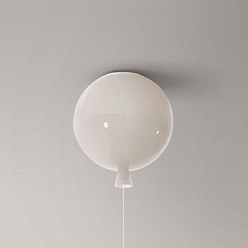 Lampada da soffitto a palloncino a LED Lampadario creativo moderno a balcone Lampade da tavolo e lampade per bambini Lampada da soffitto in vetro singolo testa (Colore : White-S)