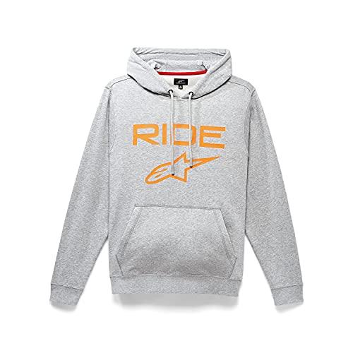 Alpinestars, Ride 2.0, Sudadera, Heather Grey/Orange, S, Hombre