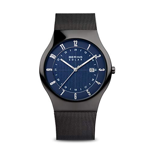 BERING Time | Men's Slim Watch 14640-227 | 40MM Case | Solar Collection | Stainless Steel Strap | Scratch-Resistant Sapphire Crystal | Minimalistic - Designed in Denmark