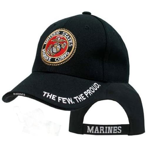 4a3613f61f6 Amazon.com  Army Universe Black USMC US Marines Deluxe Baseball Low Profile Cap  Hat - The Few