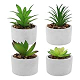 Seahelms Plantas artificiales para interiores en macetas, mini plantas artificiales...