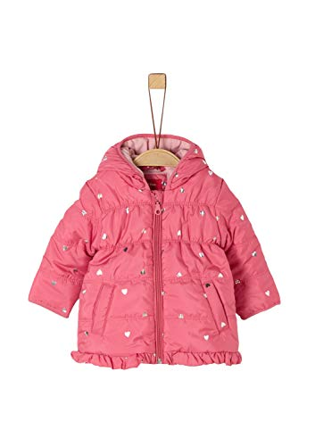 s.Oliver RED LABEL Unisex - Baby Wintermantel mit Metallic-Muster pink AOP 86