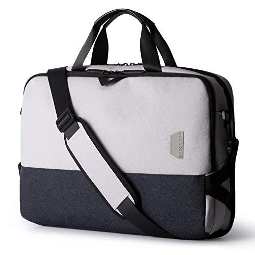 BAGSMART Laptop Messenger Shoulder Bag, Business Briefcase for Men Women, Water Resistant Durable Office Bag Fits 15.6 Inch Laptop, Travel Laptop Bag for Computer Notebook MacBook, Grey
