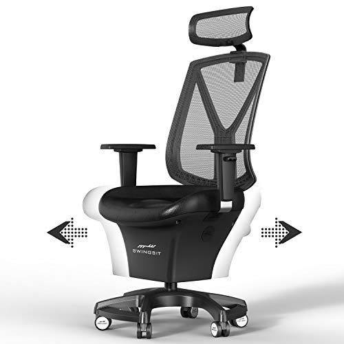 SWINGSIT Active Sitting Chair, Get Fit and Active While Sitting, Continuous Movement, Improve Circulation and Burn Calories, for Home and Office [A Series]