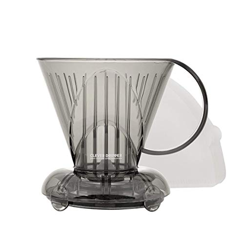 Clever Coffee Dripper Small 11oz - Bonus Filters Included (Cloud)