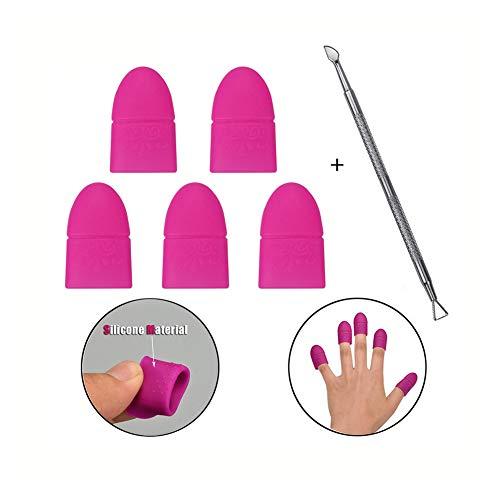 ATOMUS Silione Nail Art Set Soak Off Clip Cap UV Gel Polish Remover Wrap Nagel Werkzeug, Nagelhautschieber Maniküre-Lack wiederverwendbar