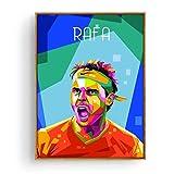 Rafa Nadal Roger Federer leyenda del tenis póster pop pintura arte póster impresión lienzo decoración del hogar imagen impresión de pared -50x70cm sin marco