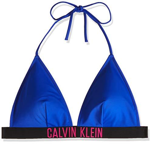 Calvin Klein Fixed Triangle-rp Almohadillas y Rellenos de Sujetador, Azul (Surf The Web CKB), XS para Mujer