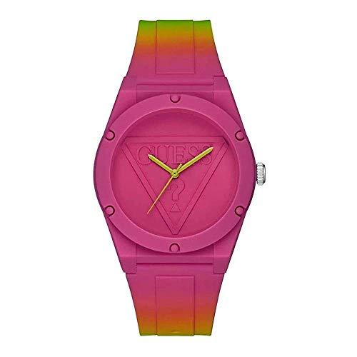 GUESS Reloj Analógico para Mujer de Cuarzo con Correa en Silicone W0979L27