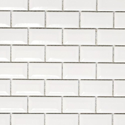 Mini Metro Subway Mosaik Fliese Keramik weiß Brick Bond Diamond für BODEN WAND BAD WC DUSCHE KÜCHE FLIESENSPIEGEL THEKENVERKLEIDUNG BADEWANNENVERKLEIDUNG WB26-0102